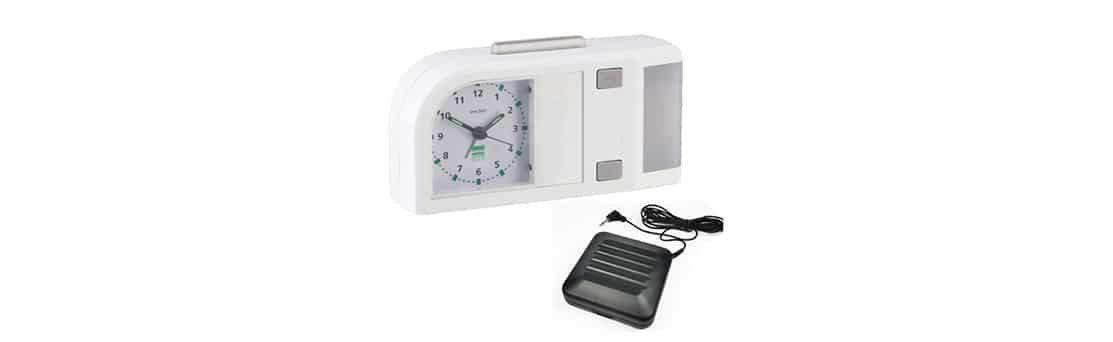 שעון מעורר אנלוגי לכבדי שמיעה